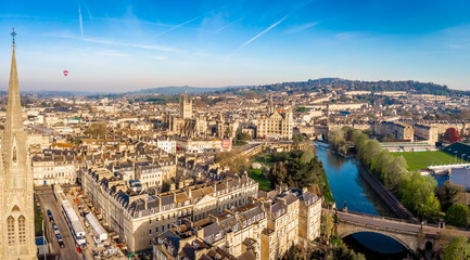 Aerial view of Bath, England Wall mural