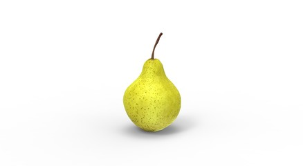 Pear Fruit isolated on White 3D Rendering