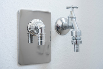Water tap with hose connection
