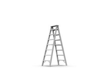 Metal Stairs isolated on white 3D Rendering