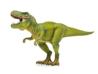 green tyrannosaurus on white background Wall mural