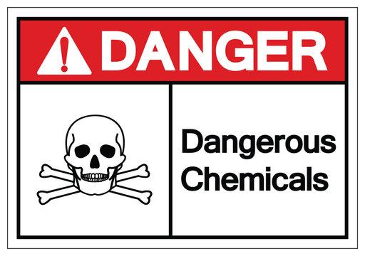 Danger Dangerous Chemicals Symbol Sign, Vector Illustration, Isolate On White Background Label. EPS10