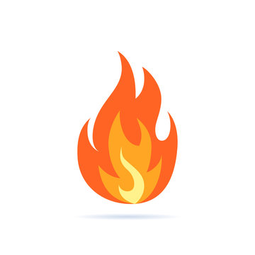Simple vector flame icon in flat style