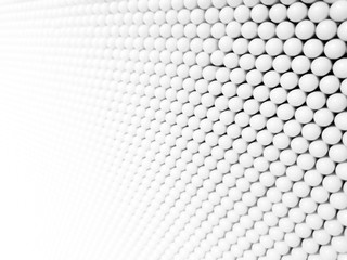 Abstract background texture of 3D Illustration White sphere plastic or Small white ball circle.