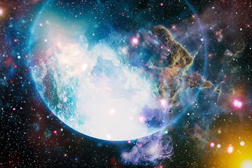 Starfield stardust and nebula space. Galaxy creative background. Elements of this image furnished by NASA.