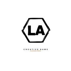 L A LA Initial logo template vector. Letter logo concept
