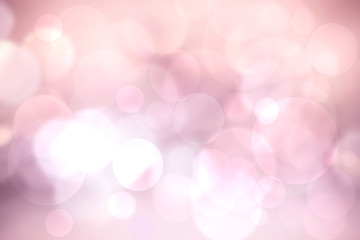 Abstract pink illustration. Abstract light pink pastel bokeh background texture with bright soft color circles. Beautiful template for your design.