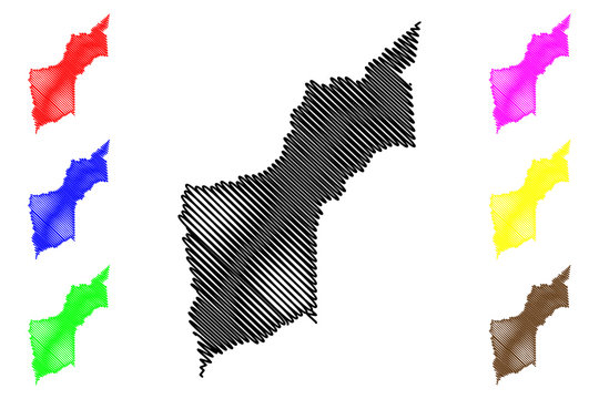Yuba County, California (Counties in California, United States of America,USA, U.S., US) map vector illustration, scribble sketch Yuba map