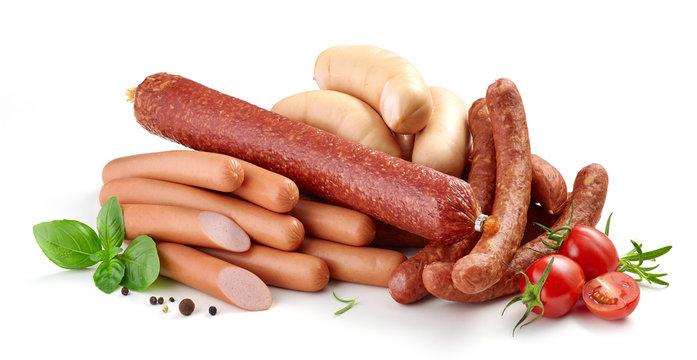 heap of various sausages