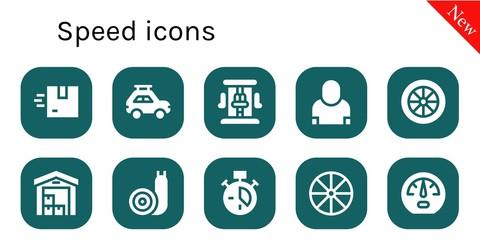 speed icon set