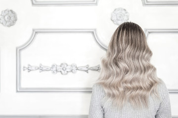 Woman with ombre hairstyle