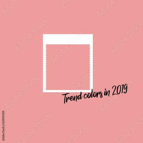 Spring Summer 2019 Color Trends Color Swatch For Designer Flat