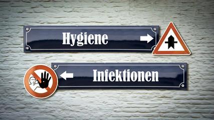 Fototapete - Schild 405 - Hygiene
