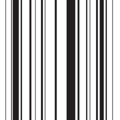 Seamless black and white stripped barcode pattern