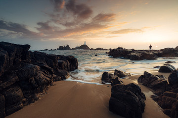 Corbiere light house at sunset