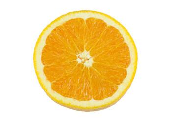 Wall Mural - slice of fresh orange isolated on white background