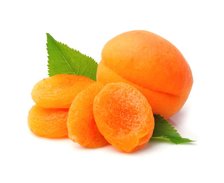 Sweet apricots and dried apricots