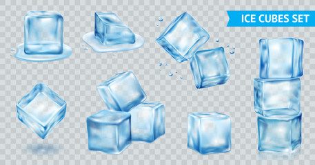 Ice Cube Transparent Set