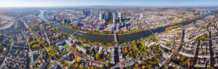 frankfurt am main - panorama from above Wall mural