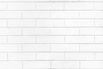 White brick wall texture or pale soft color brick wall as background. Wall mural