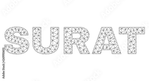 Mesh Vector Surat Text Caption Abstract Lines And Small