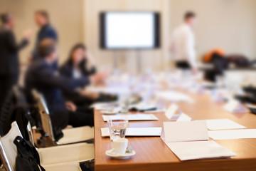 business people at meeting in conference room
