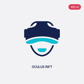 two color oculus rift vector icon from artificial intellegence concept. isolated blue oculus rift vector sign symbol can be use for web, mobile and logo. eps 10