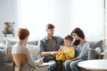 Parents work with child in therapy sessions so they learn tips and ideas for keeping up the lessons...