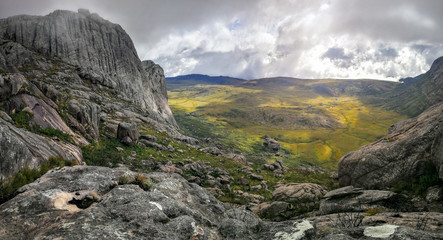 View from Andringitra massif as seen during trek to Pic Boby Imarivolanitra, Madagascar highest accessible peak