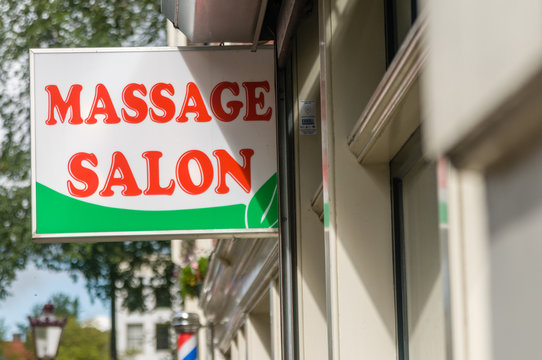 Sign for a Massage Salon, Amsterdam