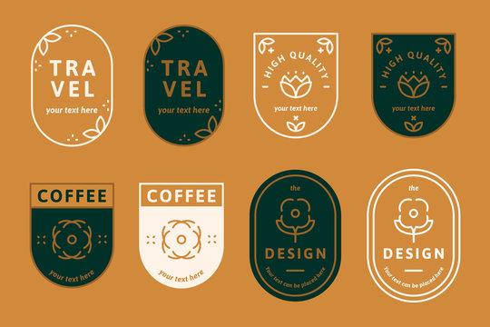 Logos on orange