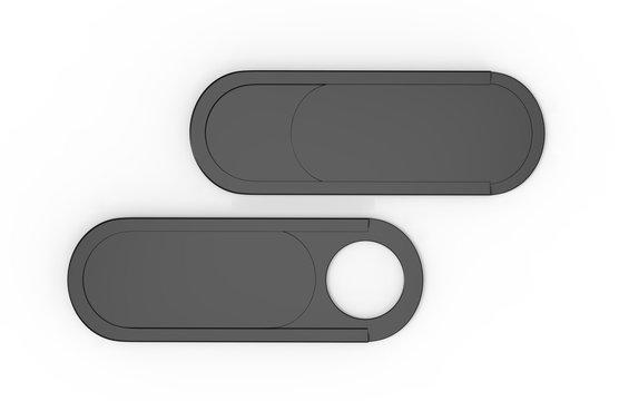 Blank Ultra Thin Webcam Cover for mock up and branding. 3d render illustration.