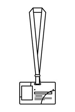 identification badge isolated icon vector illustration