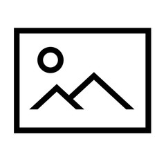 thin line sharp vector icon / image, picture, photo