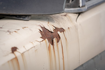 Rust on the car body