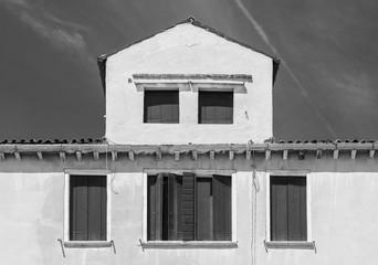 Fototapete - Residential house in Murano island, Venice, Italy.