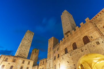Fotomurales - Tower in San Gimignano,Tuscany, Italy, Europe