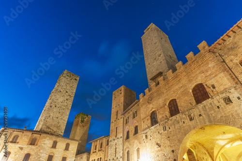 Fototapete Tower in San Gimignano,Tuscany, Italy, Europe