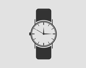 Hand wrist watch icon. Wristwatch vector.