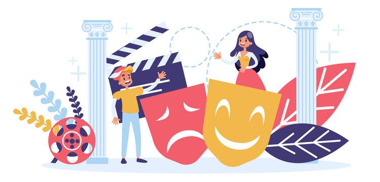 Actor of theatre and cinema profession concept