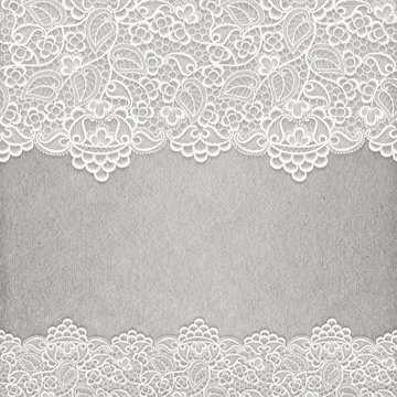 lace background with frame