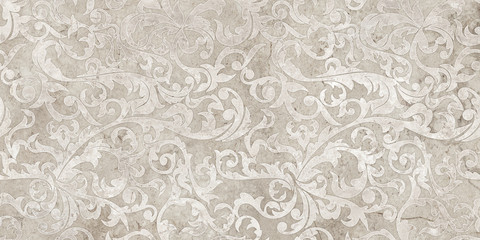 vintage background with floral damask pattern Wall mural