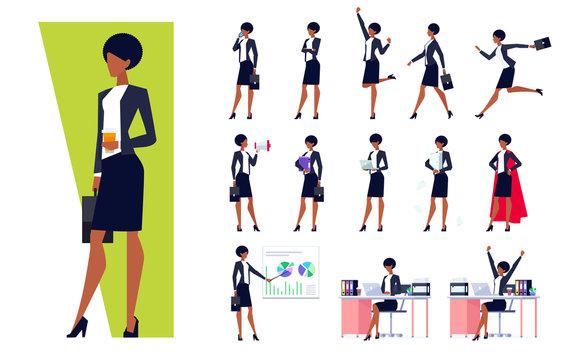 African American businesswoman set