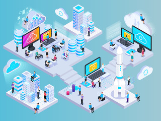 Isometric Cloud Computing Composition