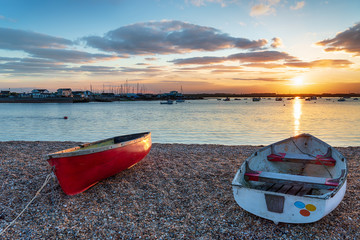Wall Mural - Boats on the mouth of the river Deben