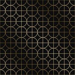 Vector art deco geometric pattern - seamless luxury gold gradient design. Rich endless ornamental background