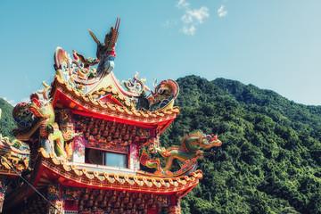 .Wulai Fude Temple details Fototapete