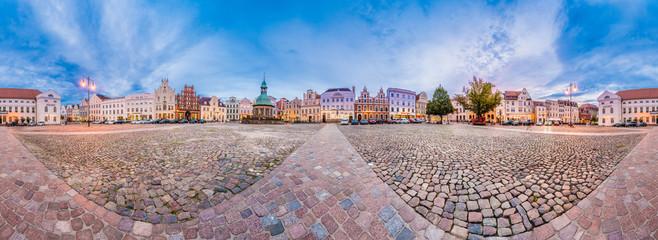 Market Square in Wismar, Germany.