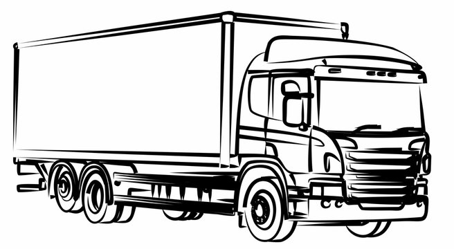 A sketch of the long truck.