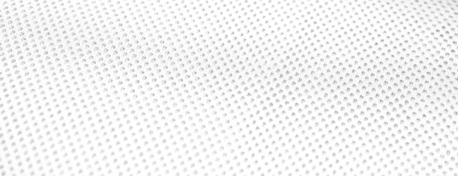 White textile mesh seamless net dot texture fabric background